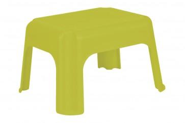 Plastový taburet zelený, 36,5x30x24 cm - POSLEDNÝCH 6 KS