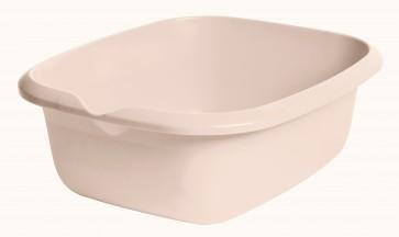 Obdĺžniková miska s výlevkou, krémová, 38 x 32 x 13,6 cm