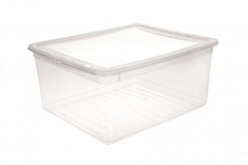 Plastový box Basixx 18 l, priehľadný.