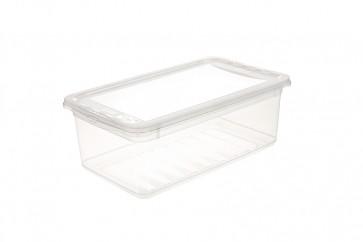 Plastový box Basixx 8 l, priehľadný.