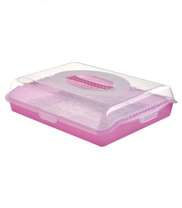 Plastový box PARTY, ružový, 35x45x11 cm