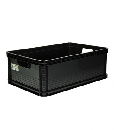 Plastový box Robusto 45 l, grafit, 60x40x22 cm