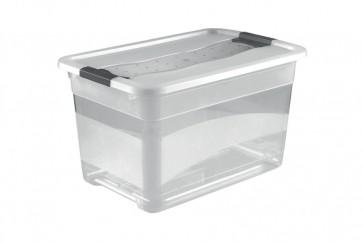 Plastový box Crystal 83 l, priehľadný, 79,5x39,5x40 cm