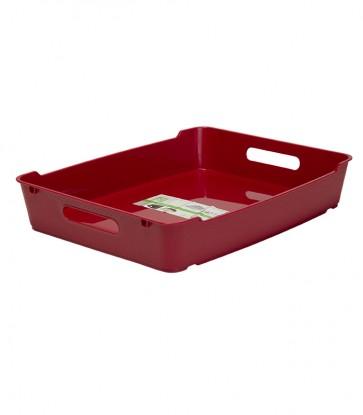 Plastový box LOFT A4, tmavo červený, 37x28,5x6,5 cm - POSLEDNÝCH 16 KS