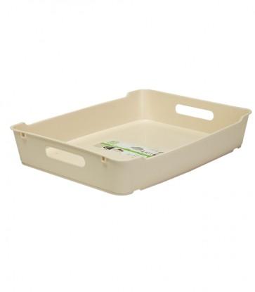 Plastový box LOFT A4, krémový, 37x28,5x6,5 cm POSLEDNÝCH 4 KS