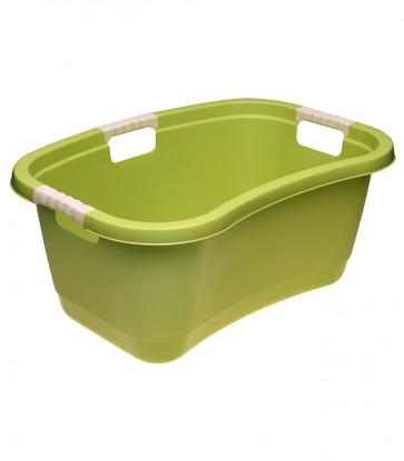 Ergonomický kôš na bielizeň s mäkkým úchytom, 49 l, zelený - POSLEDNÝCH 7 KS