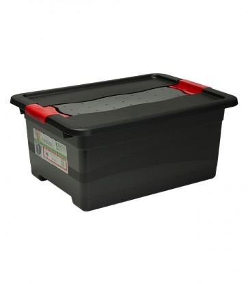 Plastový box Crystal – SOLIDO 12 l, grafit - POSLEDNÉ 2 KS