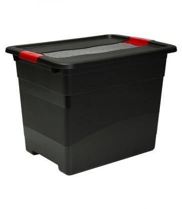 Plastový box Crystal – SOLIDO 24 l, grafit - POSLEDNÝ KUS
