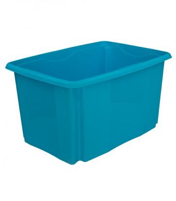 Plastový box Colours, 45 l, modrý, 55x39,5x29,5 cm - POSLEDNÝCH 18 KS
