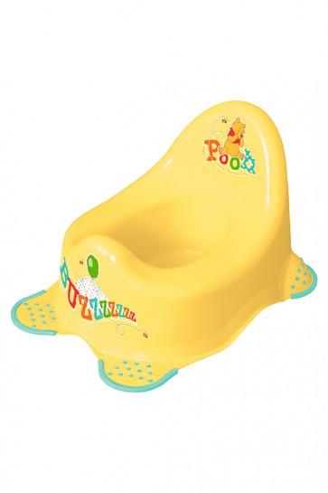 Detský nočník v žlto medovom prevedení s motívom Macka Pú - 38x27x24 cm