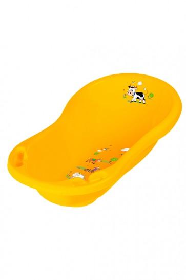 Detská vanička vo svetle oranžovej farbe s motívom Funny Farm - 84x49x30 cm - POSLEDNÉ 4 KS