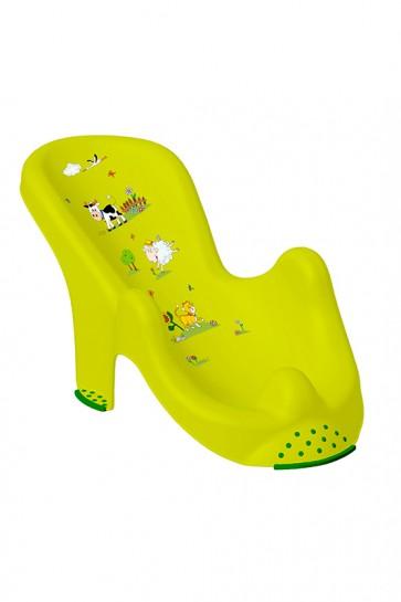 Anatomicky tvarované lehátko vo svetlo zelenej farbe s motívom Funny Farm - 53x25x22 cm