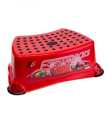 Detský taburet v červenej farbe s motívom Cars - 40x28x14 cm