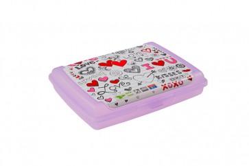 """Plastový box Deco """"Love mini"""" - 0,5l, 17x13x3,5 cm - POSLEDNÉ 4 KS"""