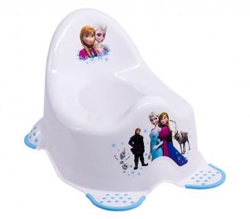 Detský nočník v bielom prevedení s motívom Frozen - 38x27x24 cm
