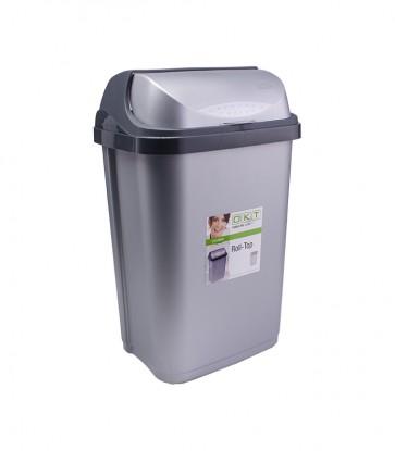 """Odpadkový kôš """"Roll-Top"""" 25 l, strieborný"""