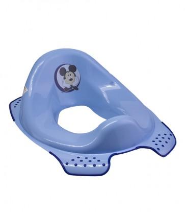 Sedátko na WC v modrej farbe s motívom Mickey - 30x40x15 cm - POSLEDNÉ 4 KS