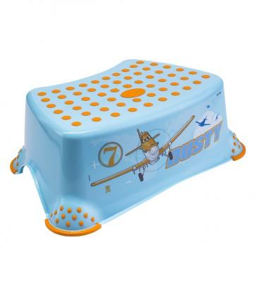 Detský taburet v modrej farbe s motívom Planes - 40x28x14 cm - POSLEDNÉ 2 KS