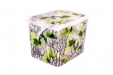 "Plastový box Fashion,  ""Spring"", 39x29x27 cm. Objem 20,5 l - POSLEDNÝ KUS"