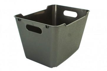 Plastový box LOFT 20 l, grafit, 40x28x25 cm.