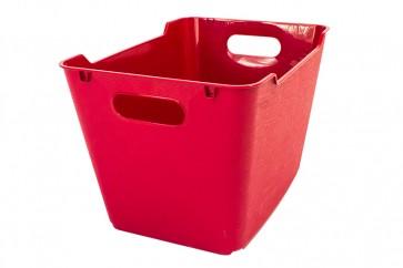 Plastový box LOFT 20 l, tmavo červený, 40x28x25 cm
