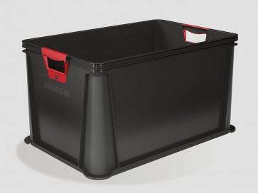 Plastový box Eurobox 64 l, grafit, 59x39x32 cm