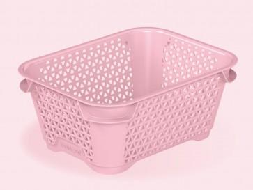 Plastový košík Mirko, A7, ružový, 16x12x7 cm