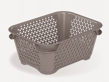 Plastový košík Mirko, A7, sivý, 16x12x7 cm