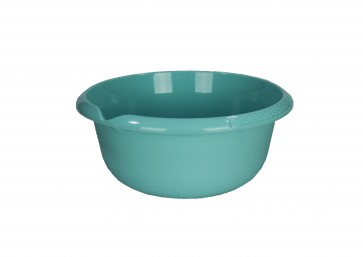 Guľatá miska s výlevkou, svetlo modrá, Ø 32 cm