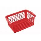 Plastový košík, stredný, červený, 30x20x11 cm