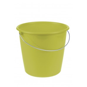 Vedro s kovovou rukoväťou, zelený, 10l