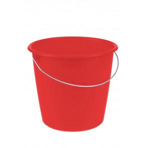 Vedro s kovovou rukoväťou, červený, 10l - POSLEDNÝ KUS