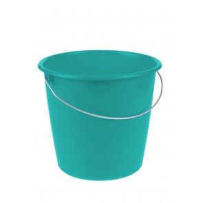 Vedro s kovovou rukoväťou, modrá modrá, 10l - POSLEDNÉ 4 KS
