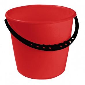 Vedro s plastovou rukoväťou, červený, 10l - POSLEDNÉ 3 KS