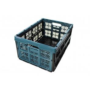 Plastový skladací box, malý, modrý