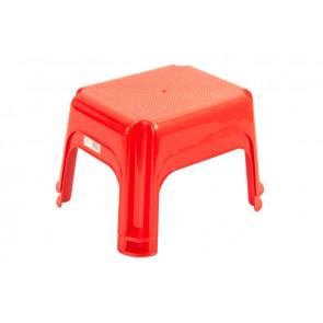 Plastový taburet červený, 36,5x30x24 cm - POSLEDNÝCH 5 KS