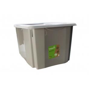 Plastový box Colours, 45 l, sivý s vrchnákom 55x39,5x29,5 cm