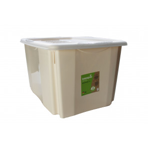 Plastový box Colours, 45 l, krémový s vrchnákom