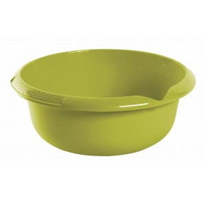 Guľatá miska s výlevkou, zelená, Ø 28 cm - POSLEDNÝCH 17 KS