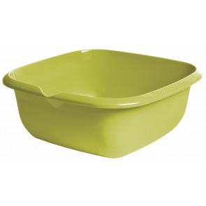 Hranatá miska s výlevkou, zelená, 38 x 38 x 15 cm - POSLEDNÝCH 7 KS