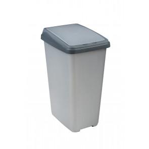 """Odpadkový kôš """"Slim-Bin"""" 45 l, strieborný - POSLEDNÝ KUS"""