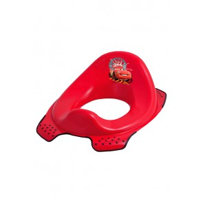 Sedátko na WC v červenej farbe s motívom Cars - 30x40x15 cm