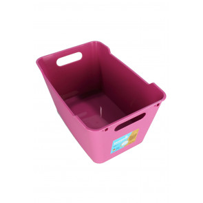 Plastový box LOFT 6 l, ružový,  29,5x19x15 cm