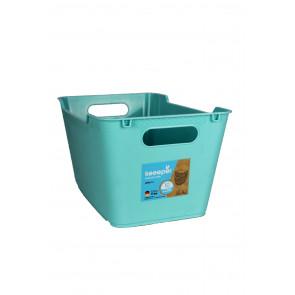 PPlastový box LOFT 6 l, modrý,  29,5x19x15 cm