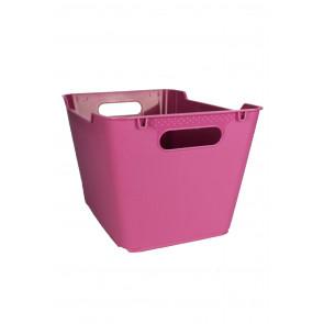 Plastový box LOFT 12 l, ružový, 35,5x23,5x20 cm