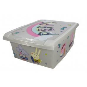 "Plastový box Fashion, ""Prasiatko Pepa"", 39x29x14cm"