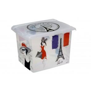 """Plastový box Fashion, """"FRANCE"""", 39x29x27cm - POSLEDNÝCH 5 KS"""