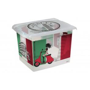 """Plastový box Fashion, """"ITALY"""", 39x29x27cm - POSLEDNÝCH 5 KS"""