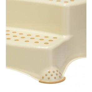 Plastové schodíky DELUXE, krémové, 40x37x21 cm