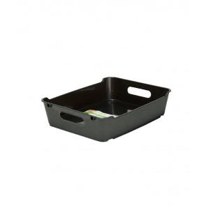 Plastový box LOFT A5, grafit, 28x22x6,5 cm - POSLEDNÝCH 14 KS